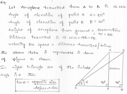 RD-Sharma-class 10-maths-Solutions-chapter 12 - Applications of Trigonometry -Exercise 12.1 -Question-44