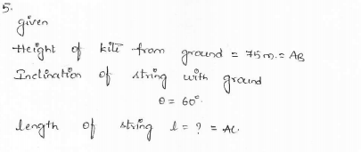 RD-Sharma-class 10-maths-Solutions-chapter 12 - Applications of Trigonometry -Exercise 12.1 -Question-5