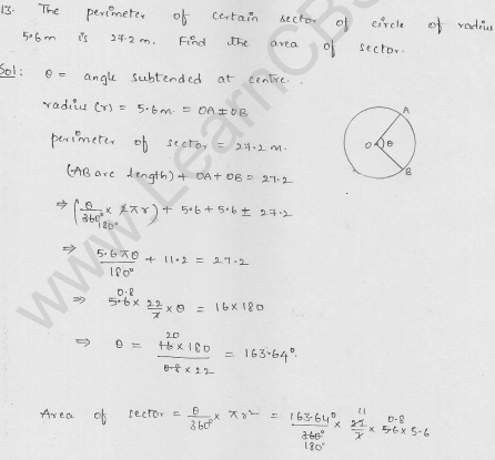 RD-Sharma-class 10-maths-Solutions-chapter 15-Areas related to Circles- Exercise 15.2-Question-13