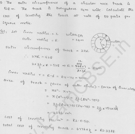 RD-Sharma-class 10-maths-Solutions-chapter 15-Areas related to Circles- Exercise 15.4-Question-3
