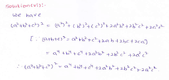 RD Sharma class 9 maths Solutions chapter 4 Algebraic Identities Exercise 4.2 Question 1 (vi)