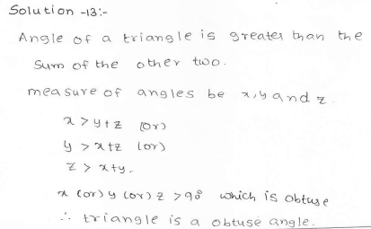 RD Sharma Class 7 Solutions 15.Properties of triangles Ex-15.2 Q 13
