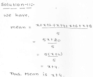 RD Sharma class 7 solutions 23.Data Handling-II (central values) Ex-23.1 Q 11
