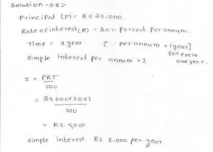 Rd sharma class 7 solutions 13.Simple interest Exercise-13.1 Q 5