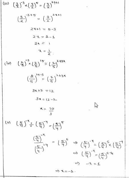 RD Sharma Class 8 Solutions Chapter 2 Powers Ex 2.2 Q 12 i