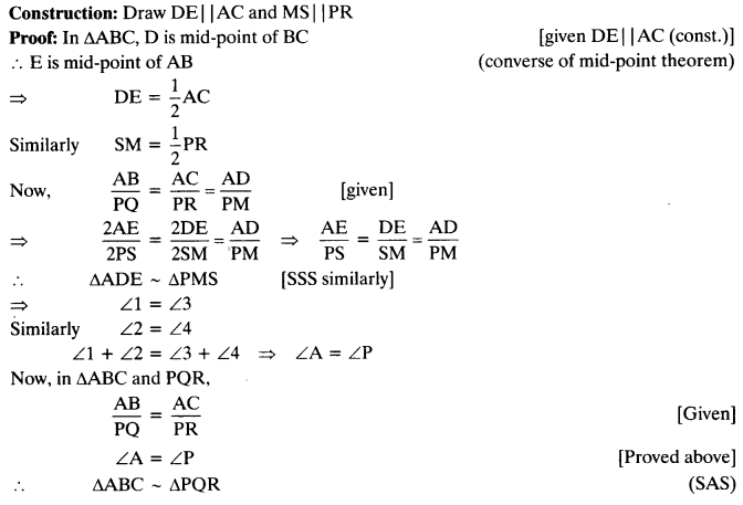 Ch 6 Maths Class 10 Ex 6.3 NCERT Solutions PDF Q14