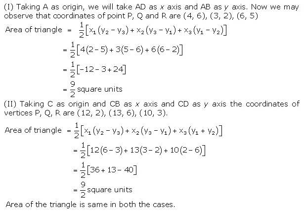 Ch 7 maths Class 10 NCERT Solutions Coordinate Ex 7.4 PDF Download Q5
