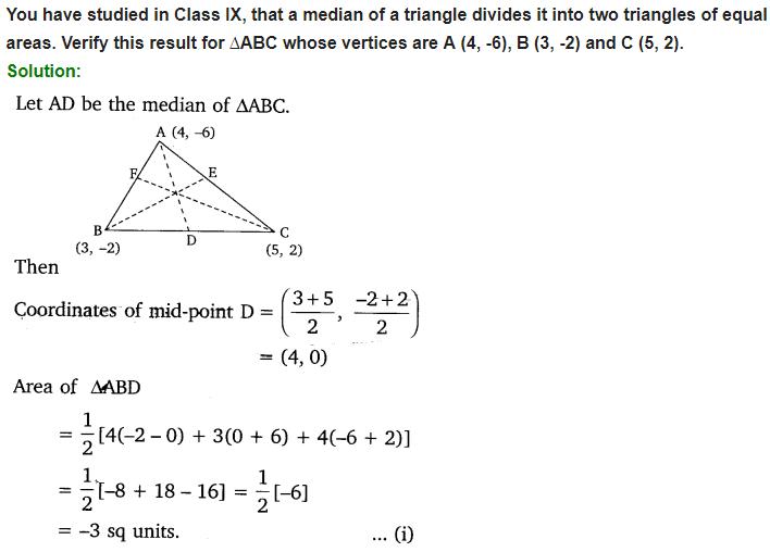 Coordinate Geometry Class 10 Maths NCERT Solutions Ex 7.2 Q5
