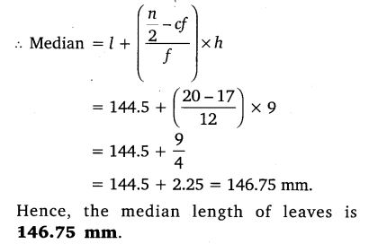 Exercise 14.3 Class 10 Maths NCERT Solutions pdf download Q4.1