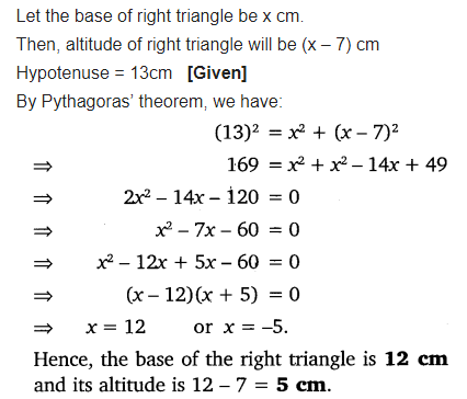 Exercise 4.2 Class 10 Maths NCERT Solutions Chapter 4 Quadratic Equations Q5