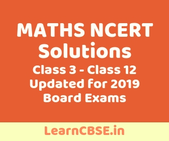 Maths NCERT Solutions 2019 to Session for Class 1 to Class 12