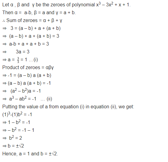 Polynomials Class 10 Maths NCERT Solutions Exercise 2.4 Q3