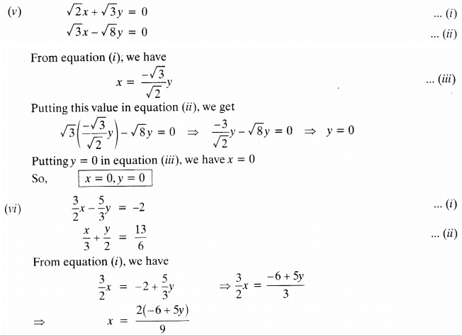NCERT Solutions for Class 10 Maths Chapter 3 Pdf Pair Of Linear Equations In Two Variables Ex 3.3 Q1.2