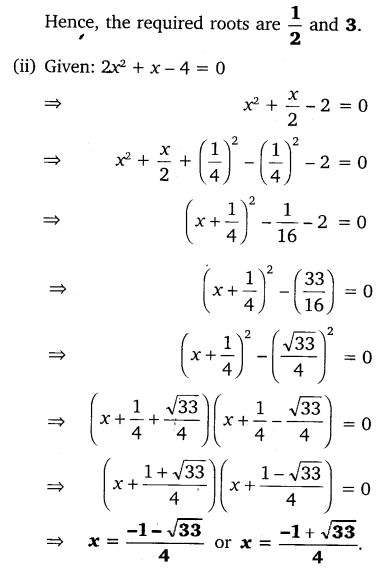 NCERT Solutions for Class 10 Maths Chapter 4 Quadratic Equations Exercise 4.3 PDF Q1.1