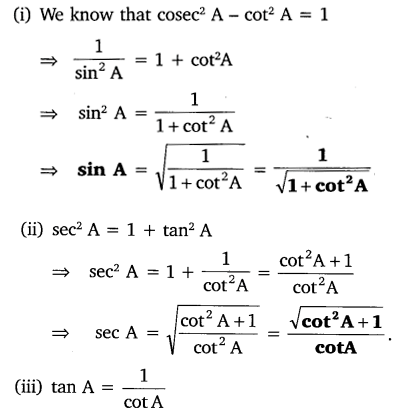 NCERT Solutions for Class 10 Maths Chapter 8 Trigonometry Exercise 8.4 Free PDF Download Q1