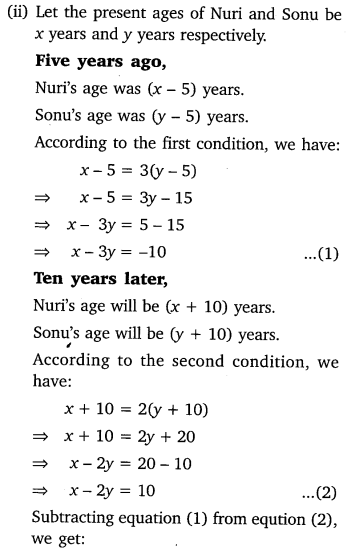 Pair Of Linear Equations In Two Variables Class 10 Maths NCERT Solutions Ex 3.4 Q2.1