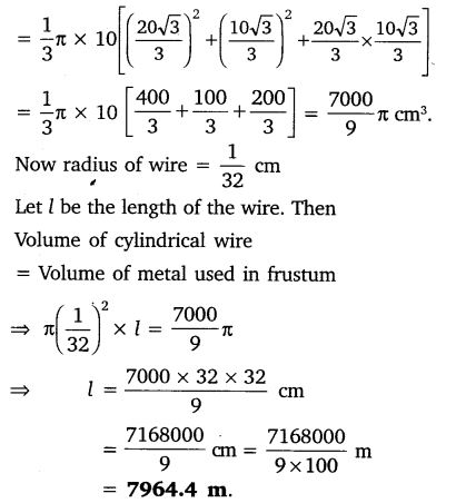 Surface Area And Volume Class 10 NCERT Solutions ex 13.4 PDF Q5.1