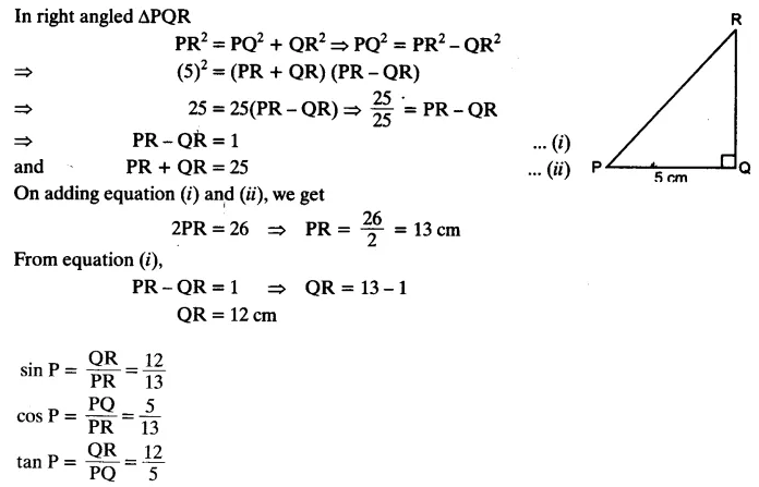 Trigonometry Class 10 Chapter 8 Exercise 8.1 NCERT Solutions Q10