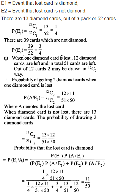 NCERT Solutions for Class 12 Maths Chapter 13 Probability Ex 13.3 Q 12