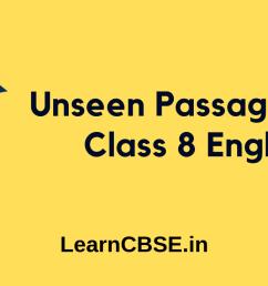 Unseen Passage for Class 8 - Learn CBSE [ 720 x 1280 Pixel ]