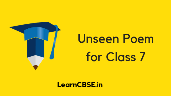 Unseen Poem for Class 7