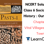 NCERT Solutions for Class 6 Social Science History Chapter 9 Vital Villages, Thriving Towns