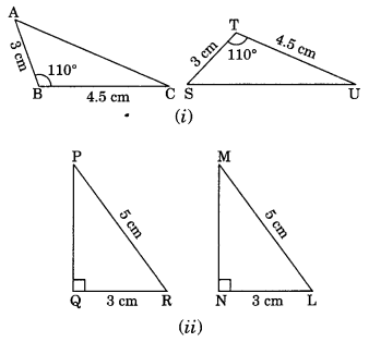 Congruence of Triangles Class 7 Extra Questions Maths Chapter 7