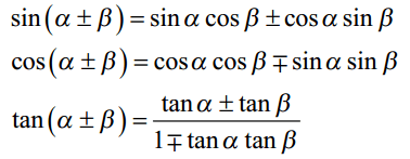 Sum and Difference Trigonometric Formulas