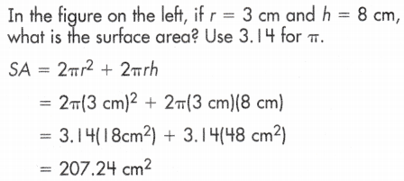 Total Surface Area of Cylinder 2