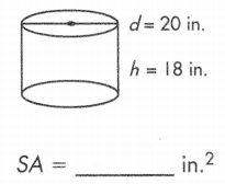 formula of total surface area of cylinder