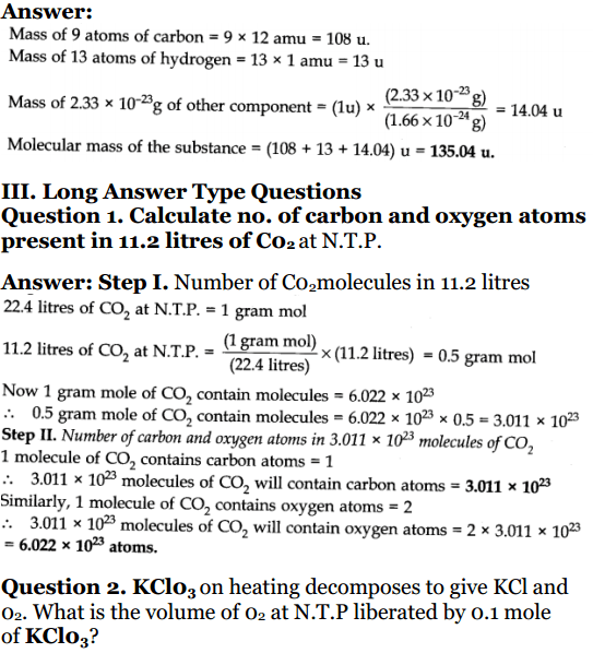 NCERT Solutions for Class 11 Chemistry 2019-20 LearnCBSE in