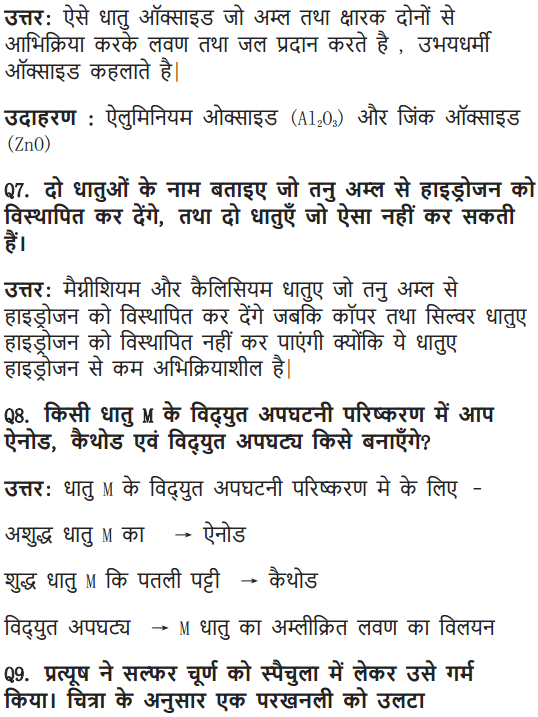 NCERT Solutions for Class 10 Science Chapter 3 Metals and Non-metals Hindi Medium 11