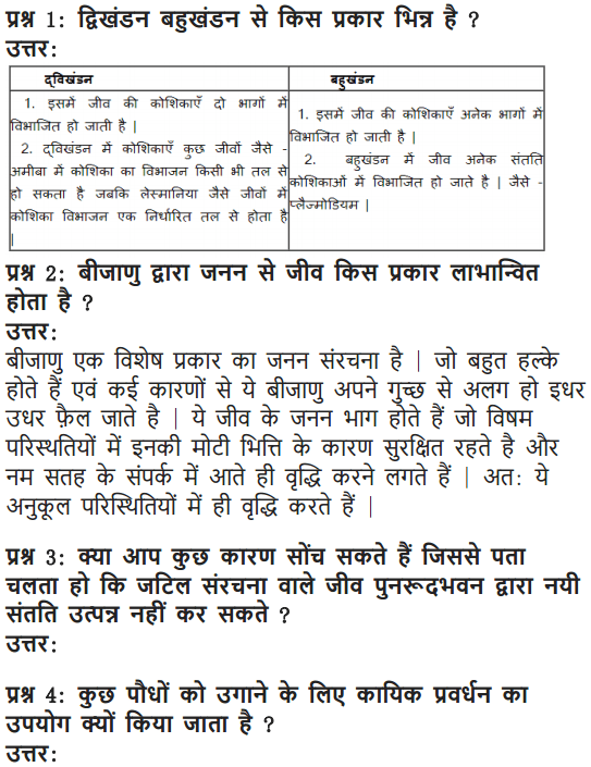 NCERT Solutions for Class 10 Science Chapter 8 How do Organisms Reproduce Hindi Medium 7