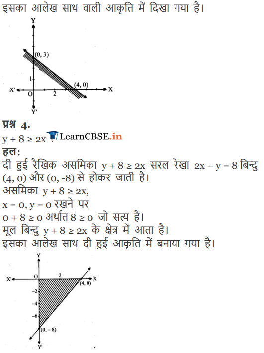 Class 11 Maths Chapter 6 Exercise 6.2 Linear Inequalities solutions in Hindi
