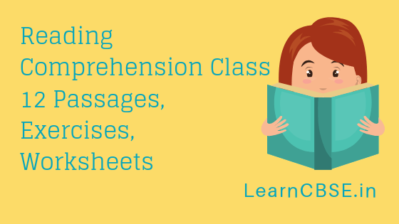Reading Comprehension Class 12