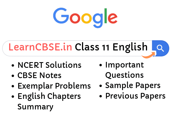 NCERT Solutions for Class 11 English