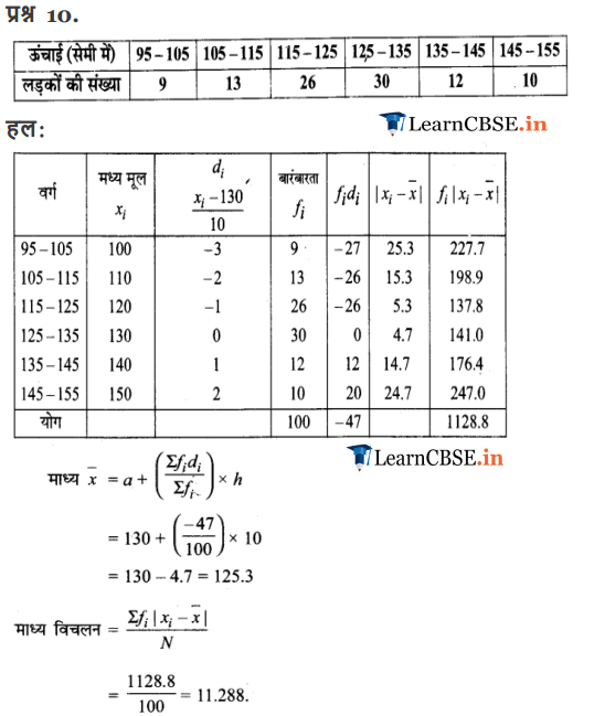 11 Maths Exercise 15.1 solutions in pdf