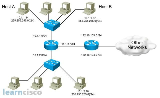 IP Network Addressing Scheme Class A B C Subnets ICND1 100 105