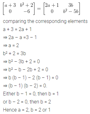ML Aggarwal Class 10 Solutions for ICSE Maths Chapter 8 Matrices Chapter Test