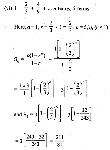 ML Aggarwal Class 10 Solutions for ICSE Maths Chapter 9 Arithmetic and Geometric Progressions Ex 9.5