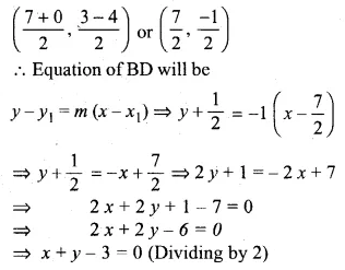 ML Aggarwal Class 10 Solutions for ICSE Maths Chapter 12 Equation of a Straight Line Chapter Test
