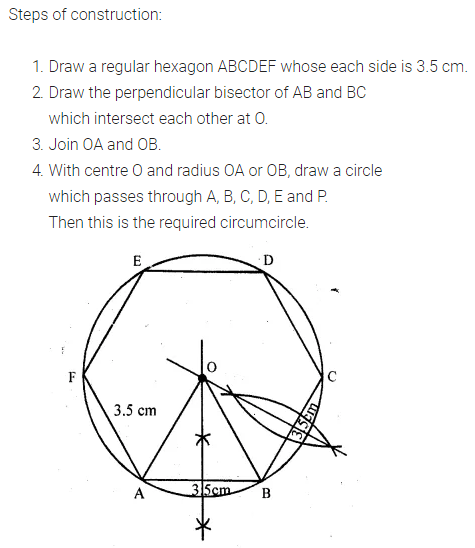 ML Aggarwal Class 10 Solutions for ICSE Maths Chapter 16 Constructions Chapter Test