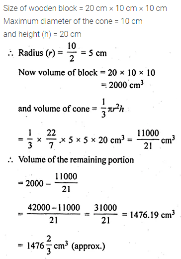 ML Aggarwal Class 10 Solutions for ICSE Maths Chapter 17 Mensuration Ex 17.4