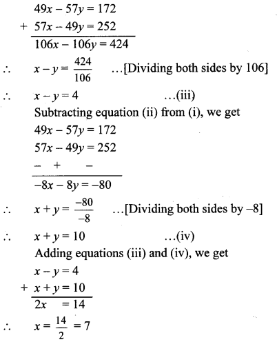 Maharashtra Board Class 10 Maths Solutions Chapter 1 Linear Equations in Two Variables Ex 1.1 6