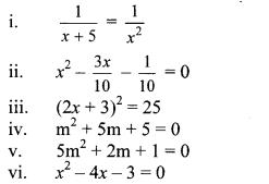 Maharashtra Board Class 10 Maths Solutions Chapter 2 Quadratic Equations Problem Set 2 2