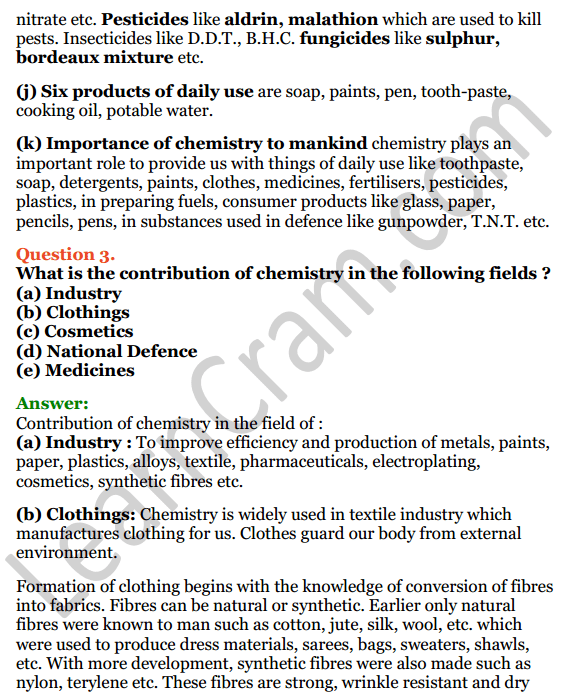 Selina Concise Chemistry Class 6 ICSE Solutions Chapter 1 Introduction to Chemistry 4