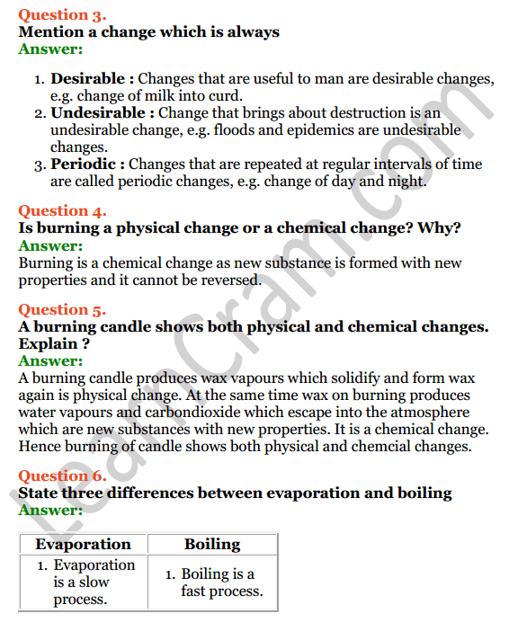 Selina Concise Chemistry Class 7 ICSE Solutions Chapter 2 Physical and Chemical Changes 2
