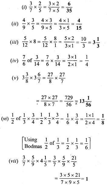 Selina Concise Mathematics Class 6 ICSE Solutions Chapter 14 Fractions Ex 14D 30