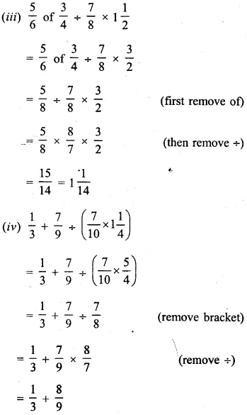 Selina Concise Mathematics Class 6 ICSE Solutions Chapter 14 Fractions Revision Ex 57