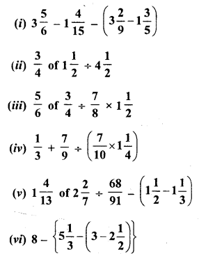 Selina Concise Mathematics Class 6 ICSE Solutions Chapter 14 Fractions Revision Ex Q3